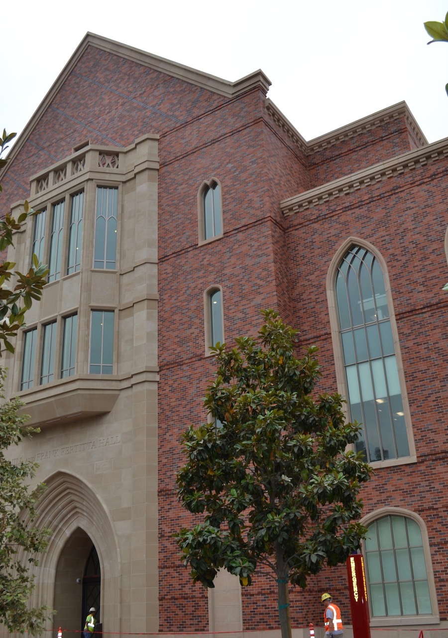 USC Marshall Fertitta Hall | Cast Stone Cladding, Veneer, Exterior Window Trim, Wall Coping