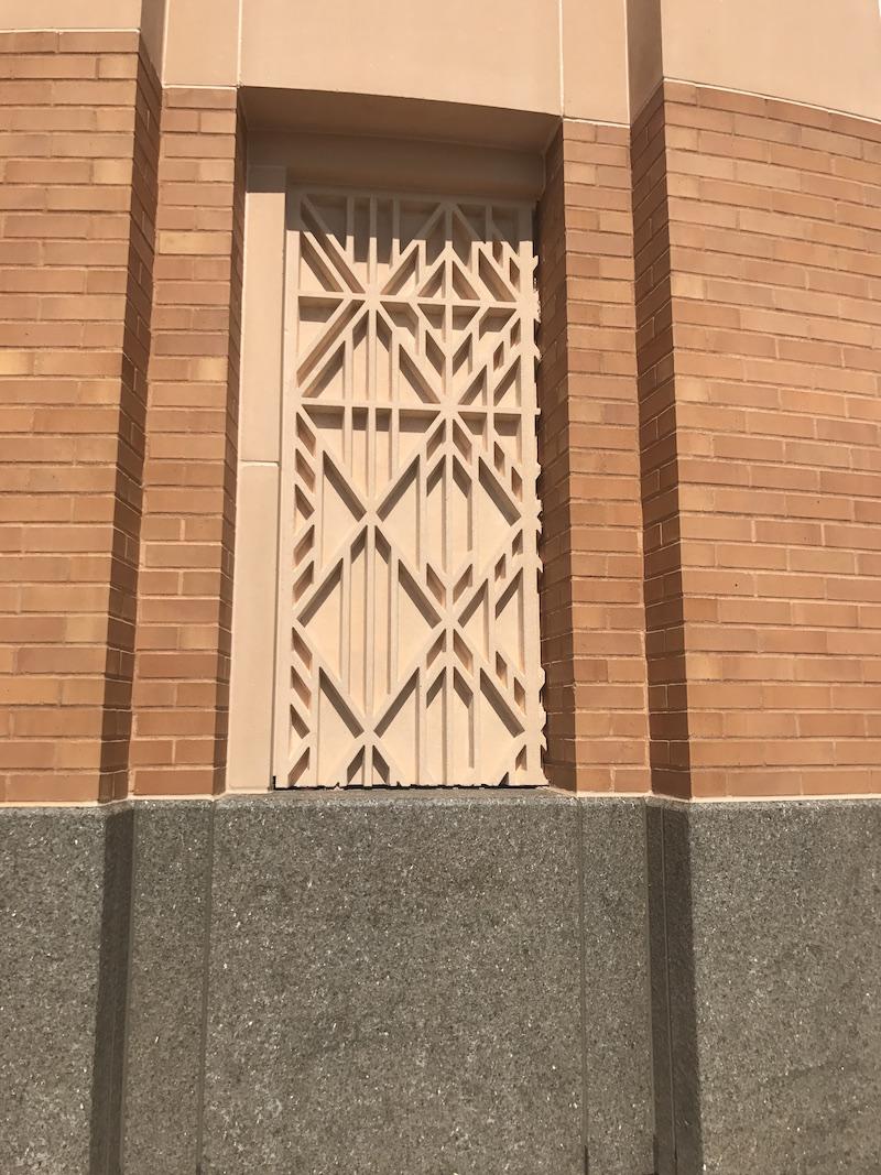Mockup of GFRC Art Panels | Frame Design on Panels is Asymmetrical by Design