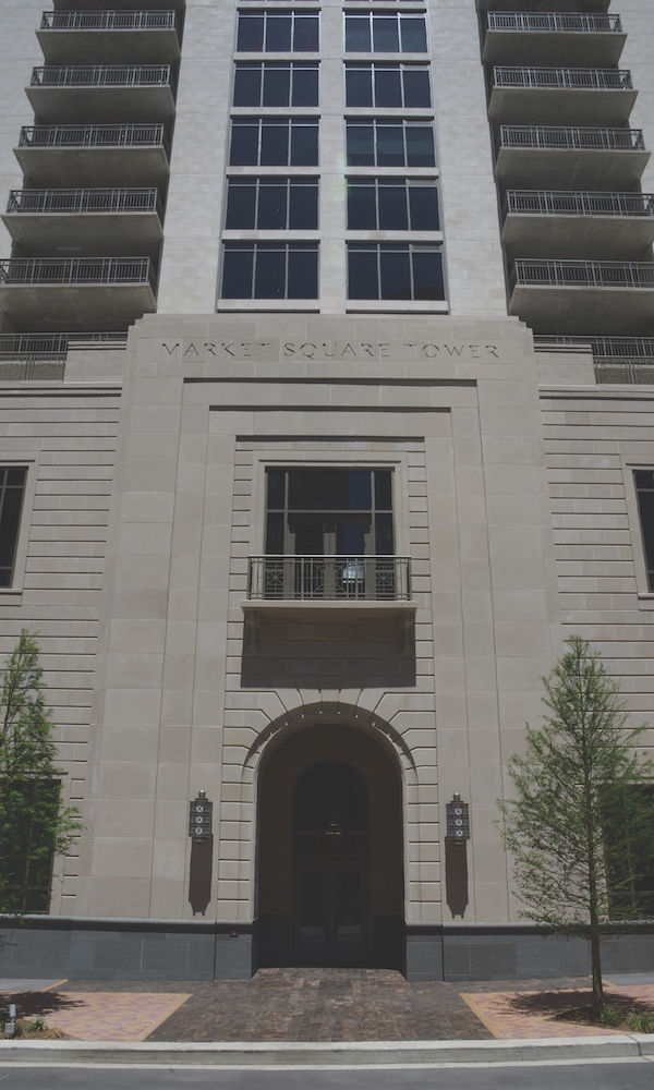 Custom Dark Color Cast Stone to Accent Leuders Limestone for the Houston Market Square Project