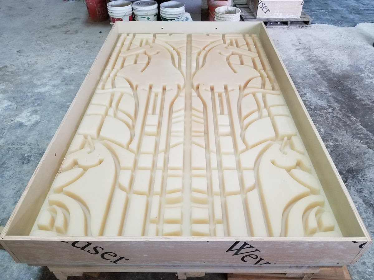 GFRC Custom Molds for Intricate Design Shapes - Horse Shape Panels being Designed, Fabricated for Ft Worth Arena Project