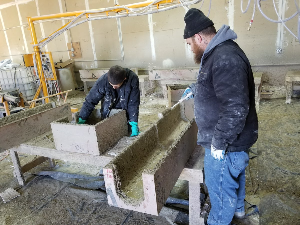 GFRC Manufacturing in TX Plant of Advanced Architectural Stone