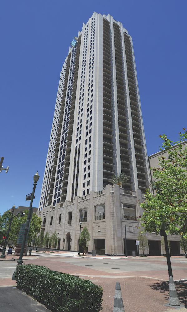 Houston Market Square | 42-Stories High Residential Building with Manufactured Stone Veneer, Cladding