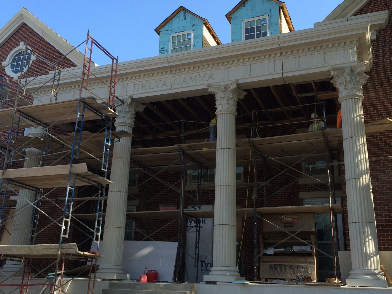 GFRC Fluted Columns, Corinthian Capitals | SMU Delta Gamma Sorority House