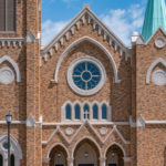 St Francis Xavier Catholic Church | Dry Vibrant-tamp Cast Stone, Wet-pour Precast, GFRC | Stone Cladding, Cornices, Banding, Coping, Architectural Trims