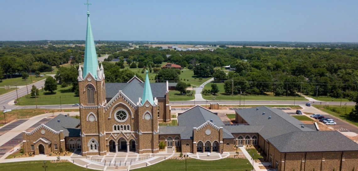 St Francis Xavier Catholic Church - manufactured precast limestone for cladding, high-end design aesthetic