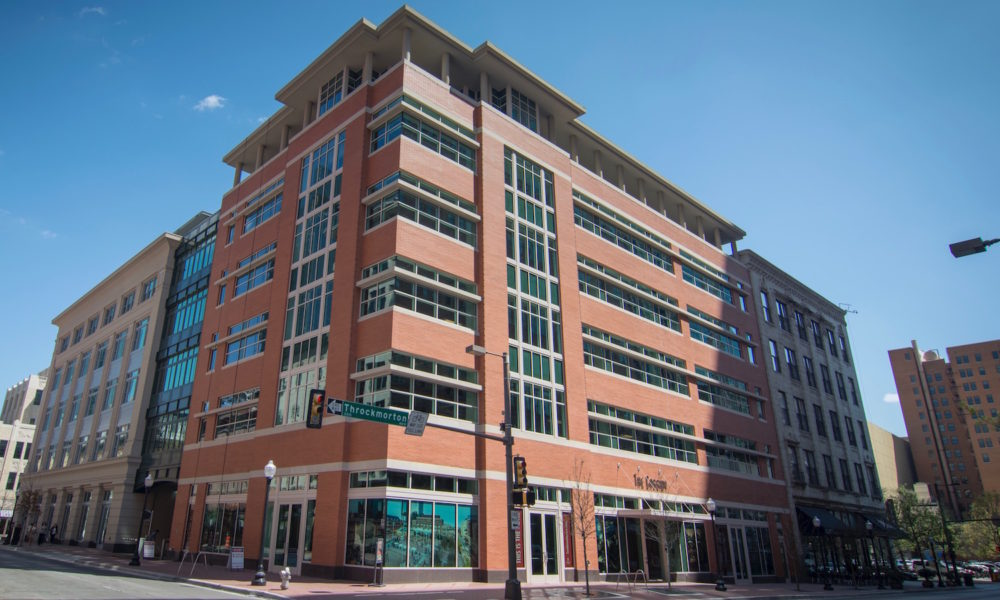 Sundance Square Cassidy Building | Cast Stone Ribbons Integrated with Glass
