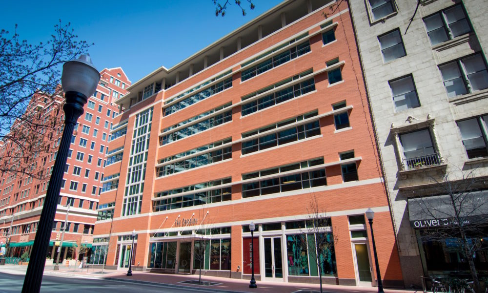 Sundance Square Cassidy Building | Large Cast Stone Pieces Coordinated with Glass