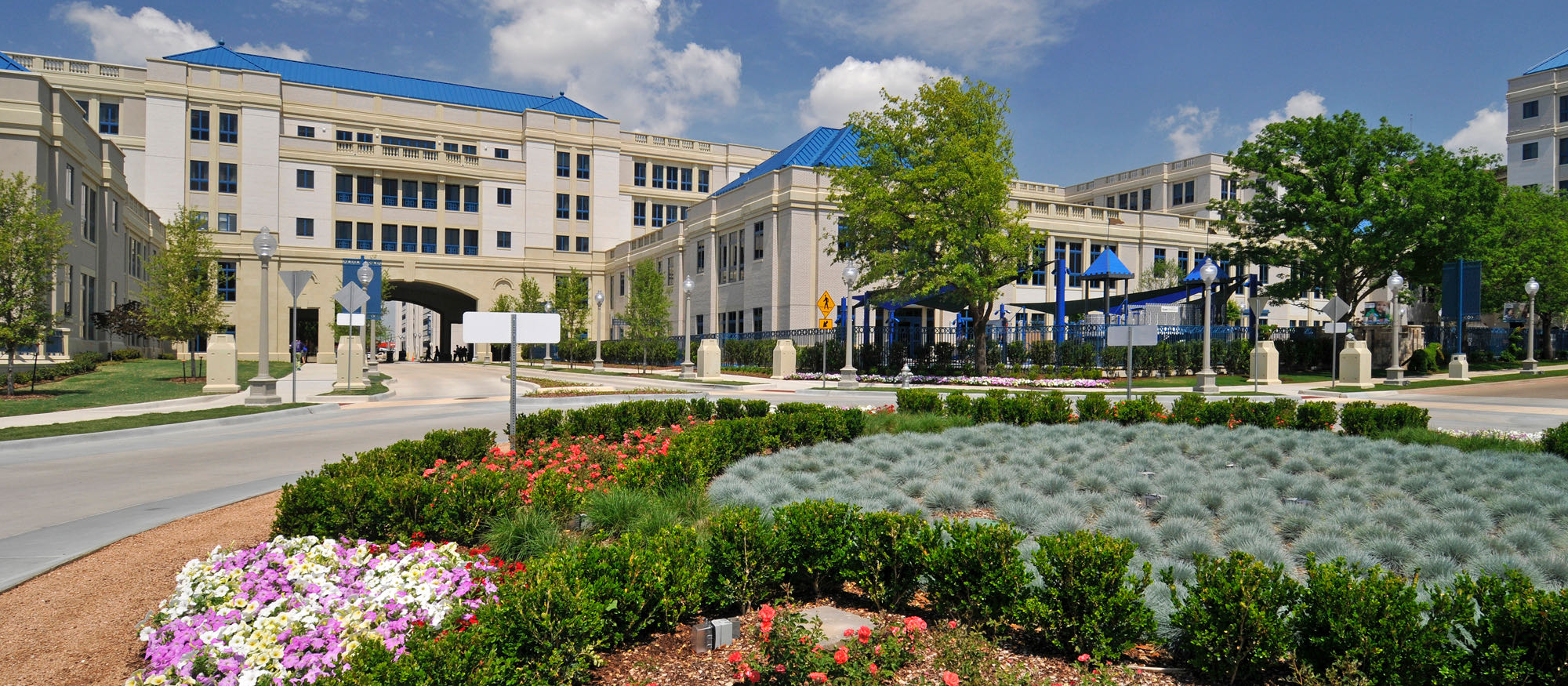 Cook Children's Hospital Exterior Stone Cladding using Cast Stone, Architectural Precast
