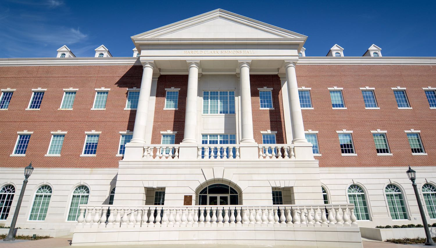 Balustrade System, Columns, Cladding Design for Harold Clark Simmons Hall, SMU
