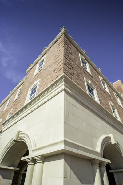 Harborchase of Park Cities | Monolithic Stone Veneer, Cornices, Columns, Full Radius Arches using Manufactured Stone