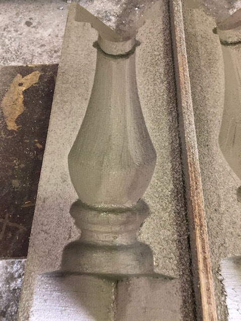 Mold for for casting balusters