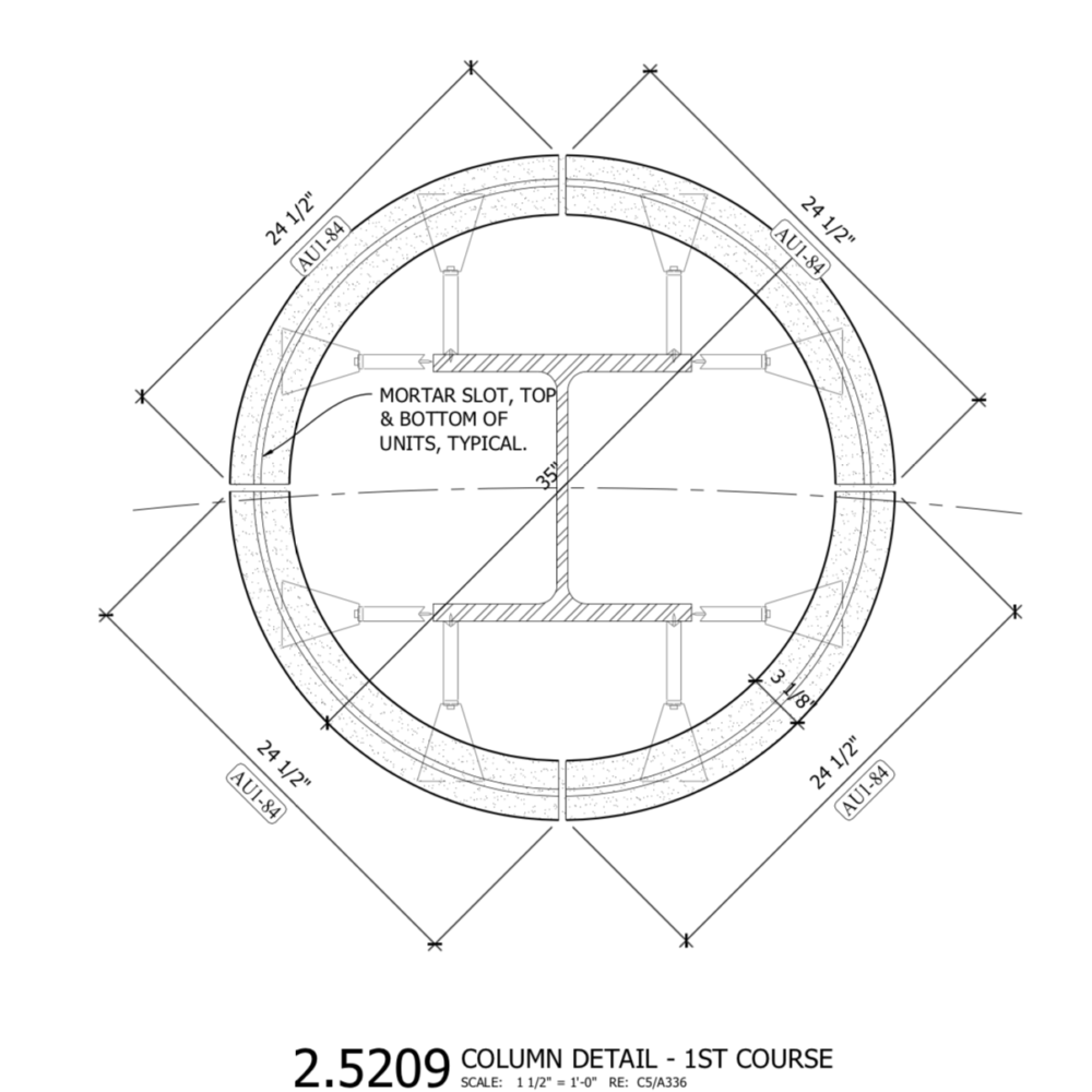 Connection Details for Pilaster Cladding