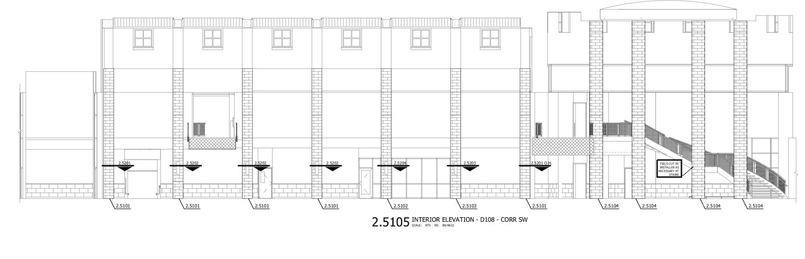 Interior Elevation - SW Corridor