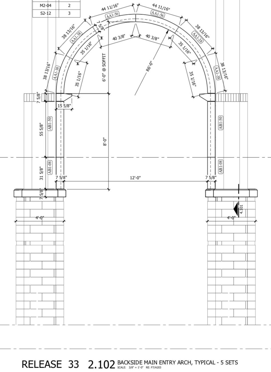 Lebanon High School Main Entry - Settings Plan - Backview