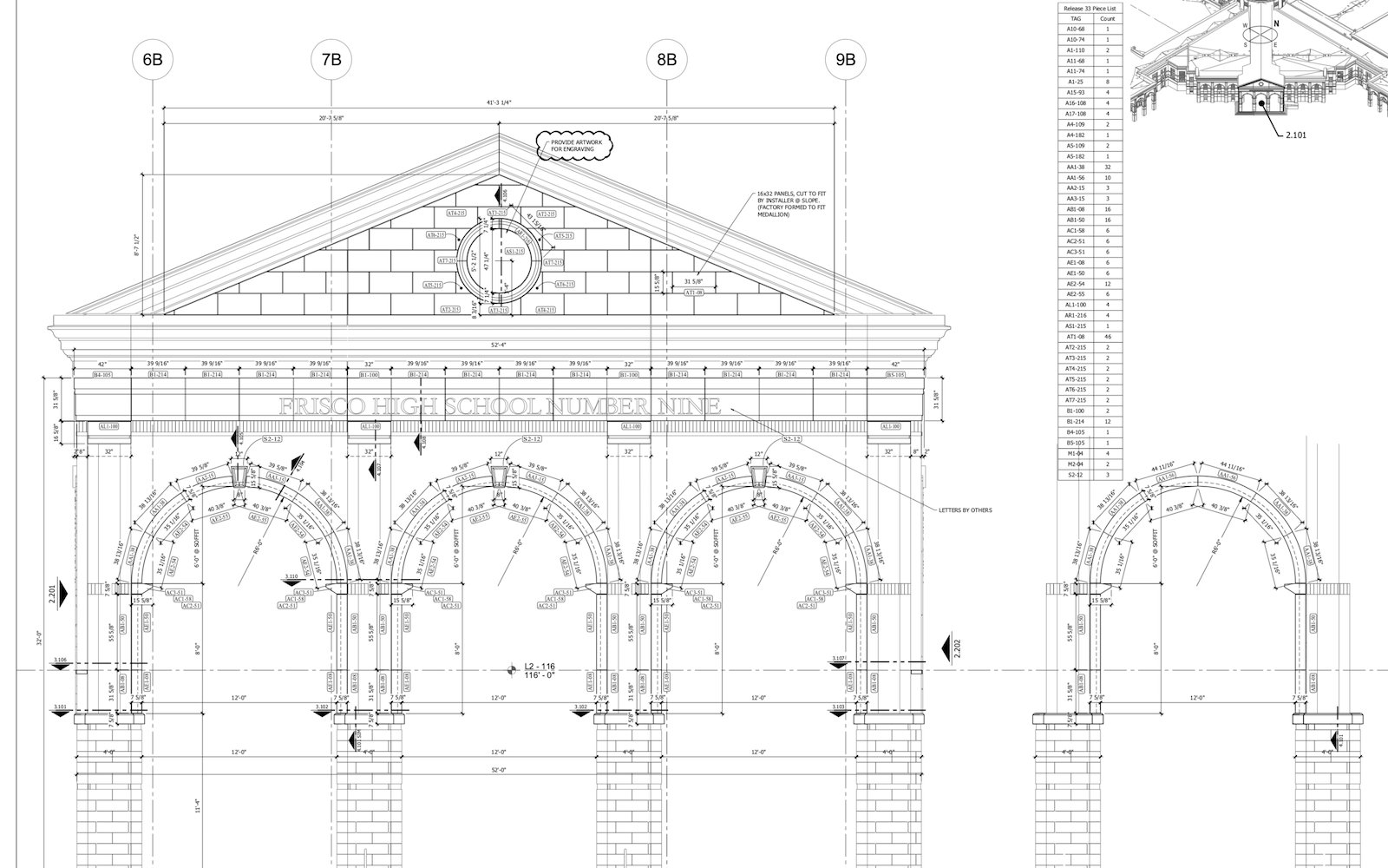Lebanon Trail High School - Front Entry Settings Plan