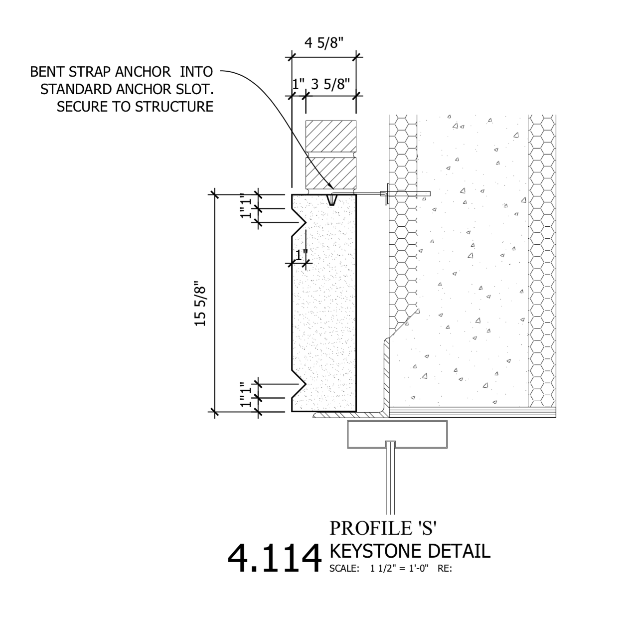 Section 4.114 - Connection Details for Suspended Soffit of Archway