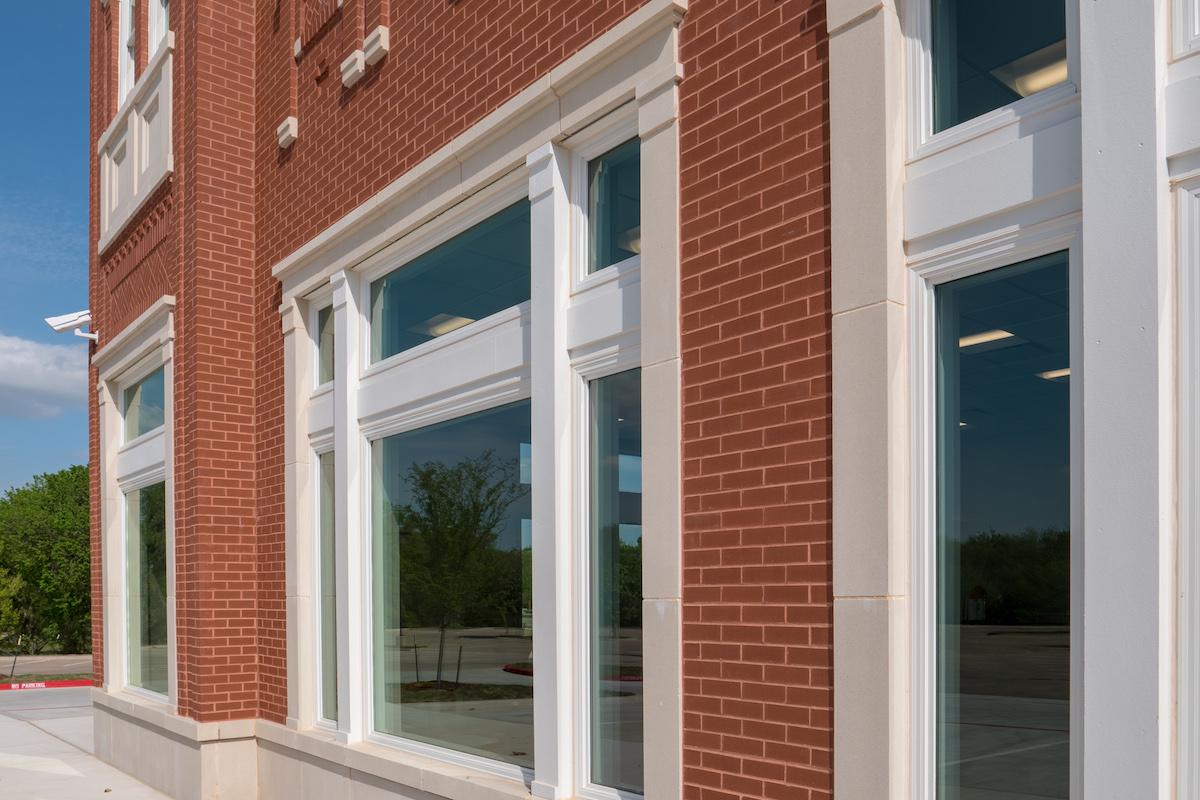 Parker Square - Door trim, window trim highlights storefront features