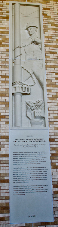 Texas Christian University - TCU - Relief Panels Honor and Recognize Original Founders of the University