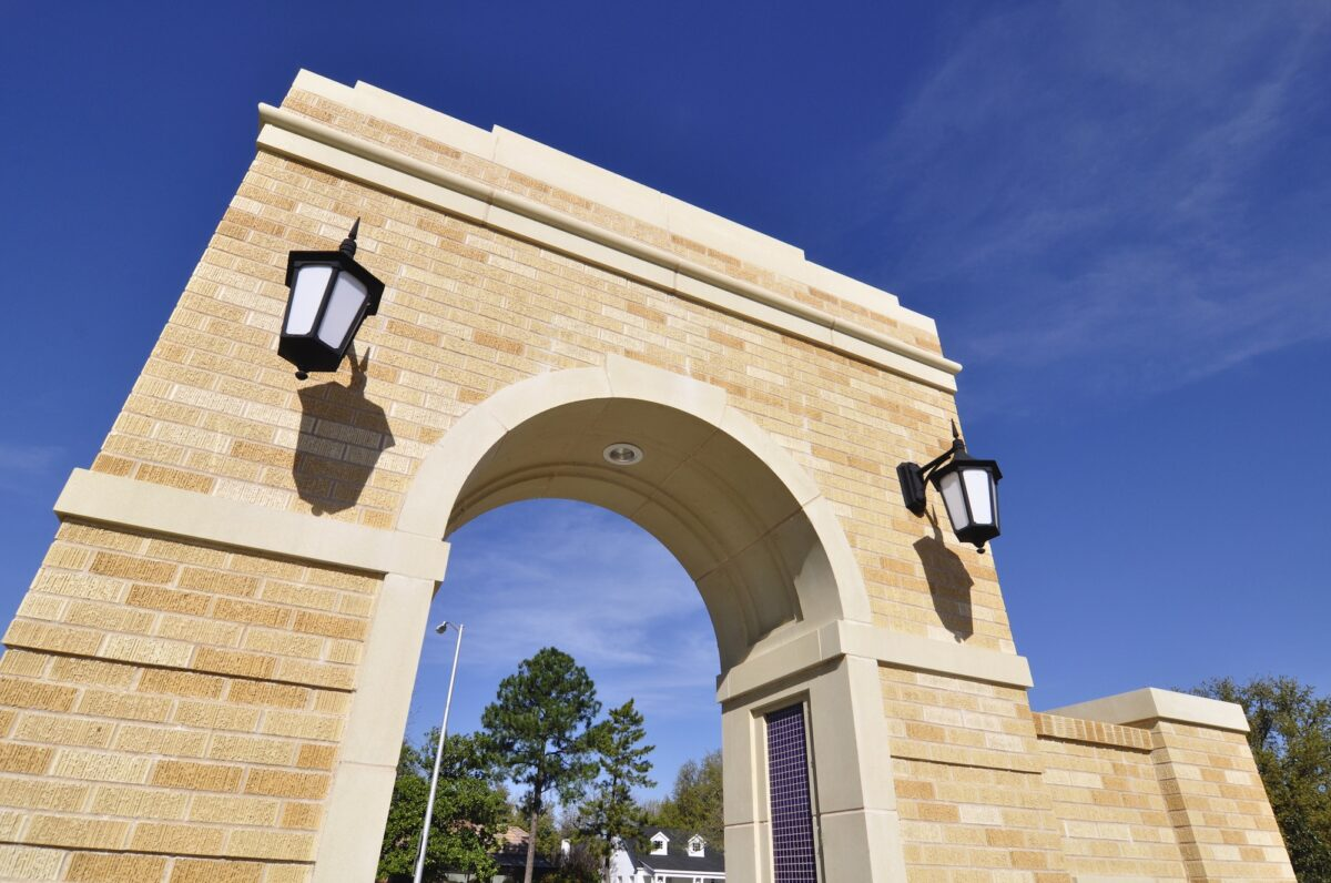 Architectural Cast Stone for Arched Entry - Left Side