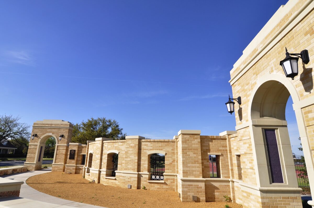 Cast Stone Coordination with Brickwork for Intended Design Accent