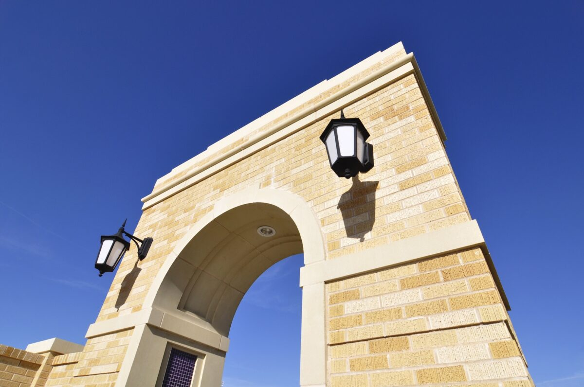 Project Specific Architectural Cast Stone for Arched Entry - Right Side