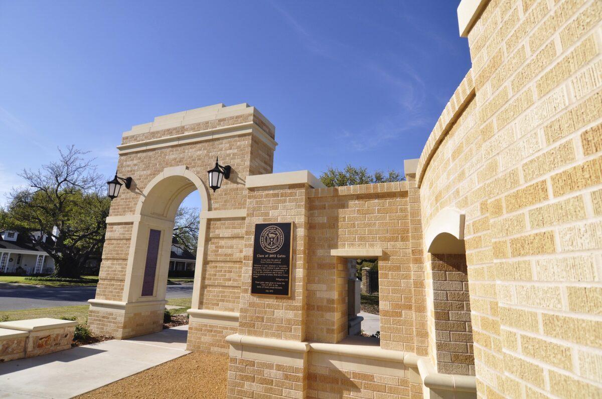 TCU Entry Gate | Design Accent using Architectural Cast Stone