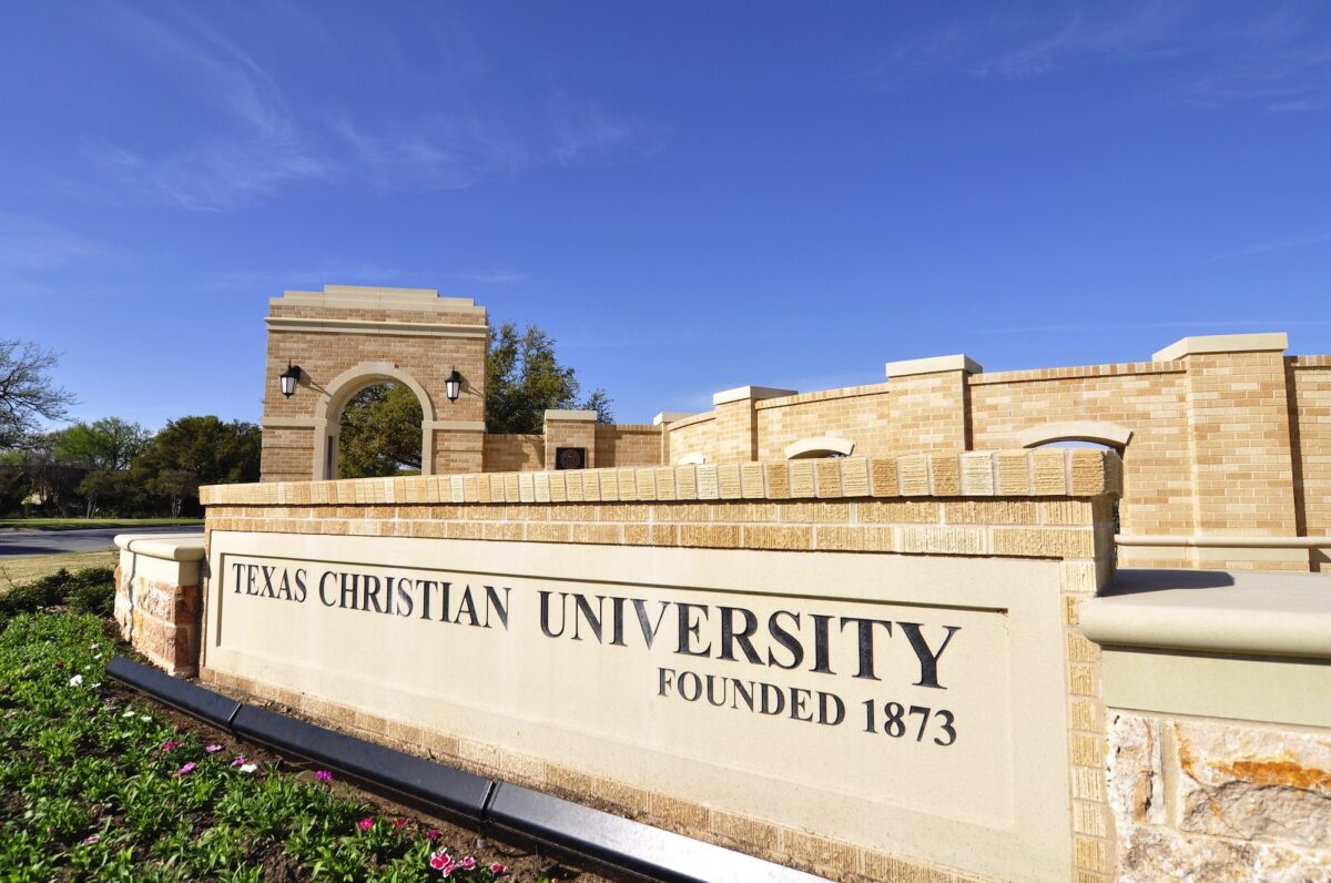 Texas Christian University - TCU - Signage Achieved using Architectural Cast Stone