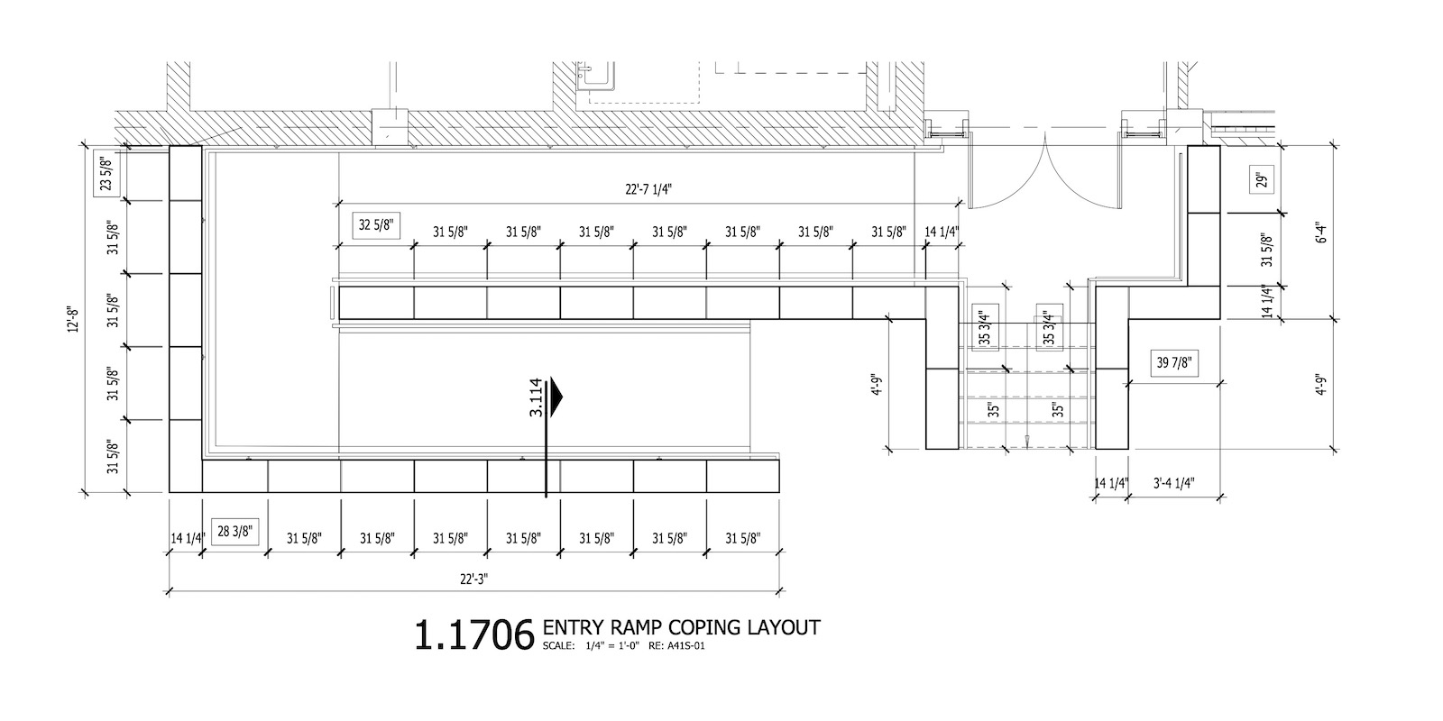 Entry Ramp Coping Layout - Settings Plan