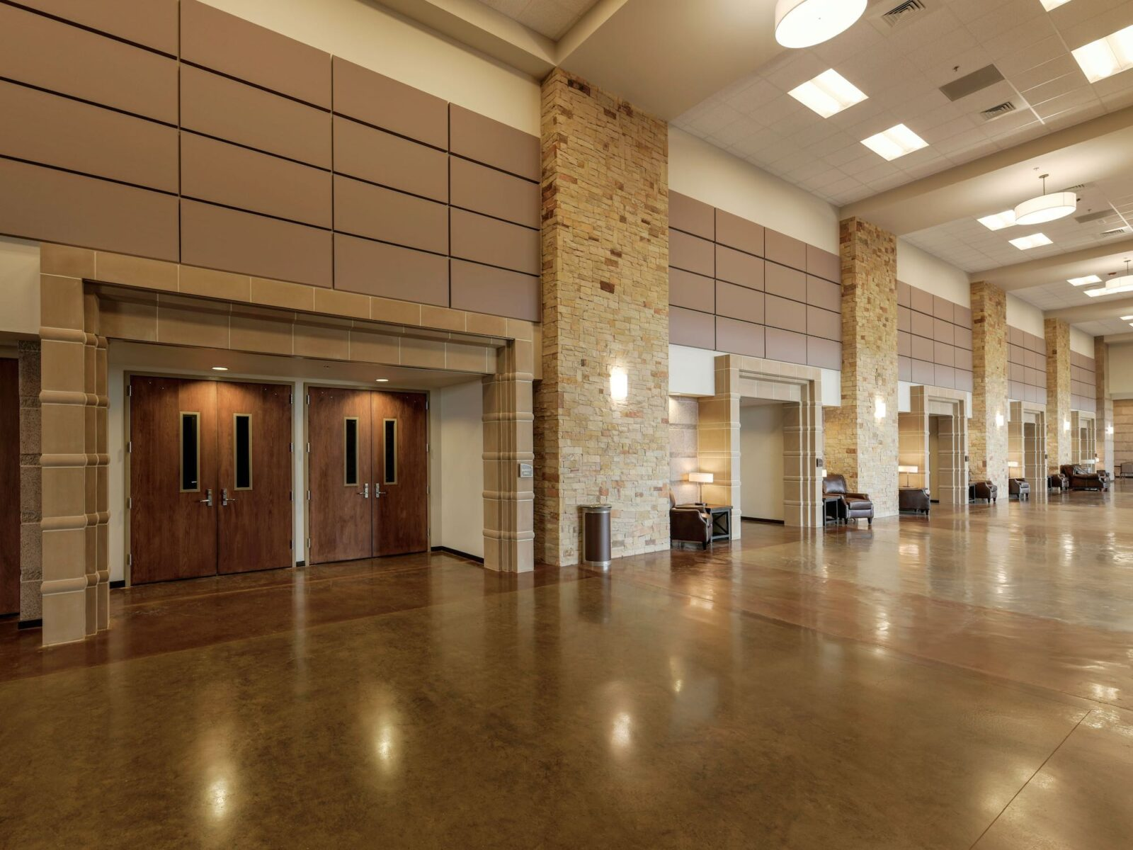 Ward County Event Center - Design Accent using Custom Manufactured Cast Stone - Entryways Surround Trim