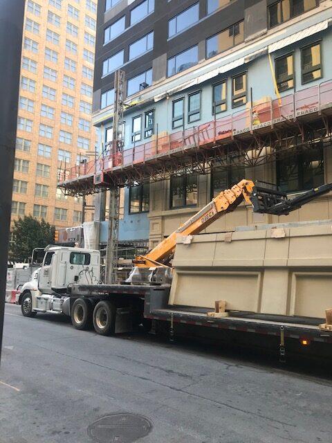 GFRC Panels Arriving at the Construction Site