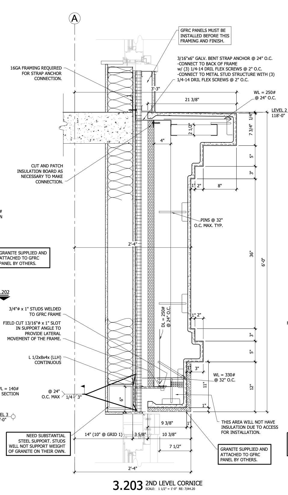 Marriott Hotel CAD Drawing - Section 3_302 - second level cornice - 1