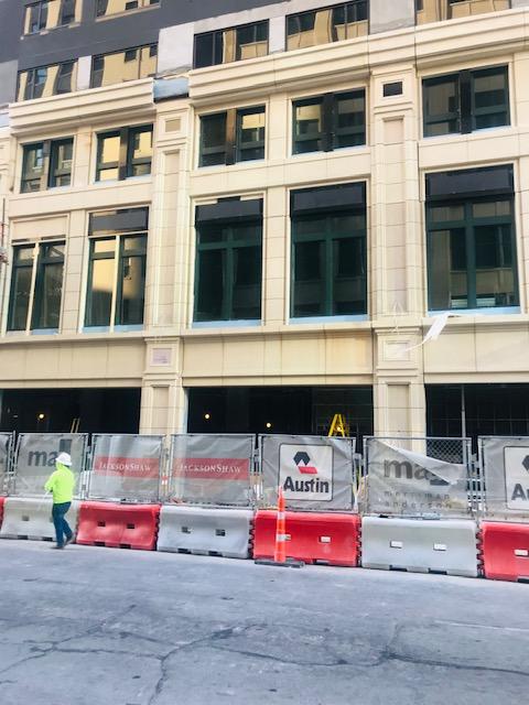 Marriott Hotel Renovation - GFRC Installation in Progress
